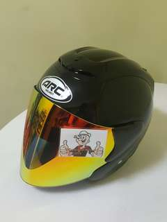 0906**ARC RITZ BLACK V Gold VISOR For Sale 😁😁Thanks To All My Buyer Support 🐇🐇 Yamaha, Honda, Suzuki
