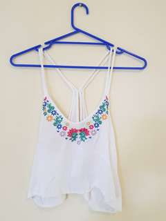 Embroided Crop Top