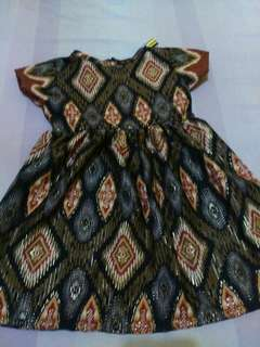 Dress batik utk 1-2th