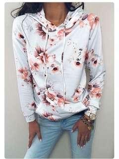 💫floral hoodie sweater