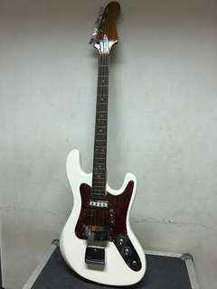 Old bass guitar