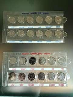 加拿大千禧紀念銭幣$200/set