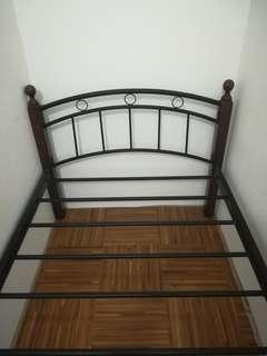 Single bed frame metal wood free bed foam