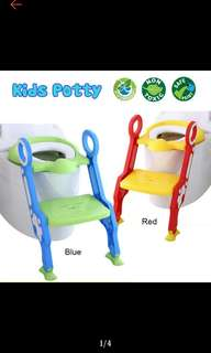 FREE POS Ready Stock Large Baby Potty Training Toilet Chair Seat Step Ladder Trainer