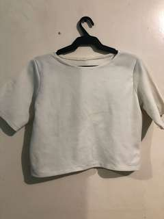 White Cropped Top (S-M)