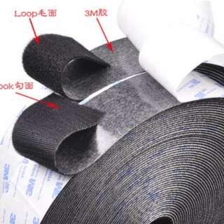 Velcro ties with 3M self adhesive behind
