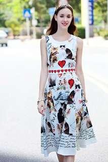 ‼️3D kitten dress