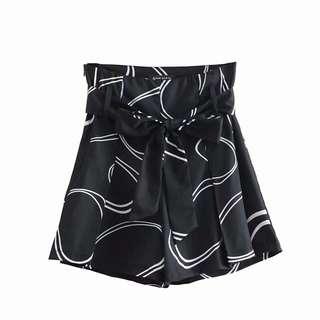 🔥Euerope 2018 High Waist Retro Pattern Belt Hot Shorts