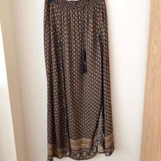 Tribal bohemian Maxi Skirt