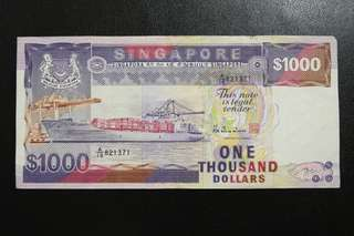Sg ship series $1000 notes