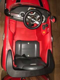 Controlled car in red
