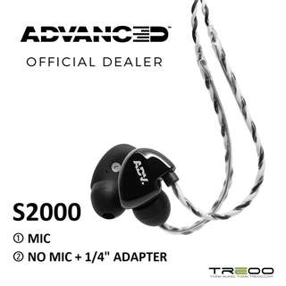 """ADVANCED S2000 In-Ear Earphones with/without In-line Microphone + 1/4"""" Adapter"""