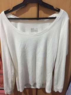 White Longsleeves Sweater