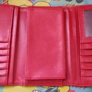 Red Women Wallet -  Dompet Wanita Preloved - good condition