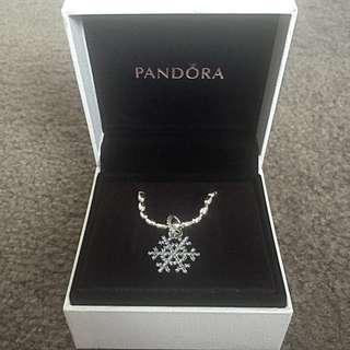 Pandora Snow Flake Necklace