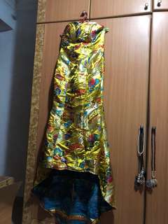 L Imperial Gold Tube Evening Gown