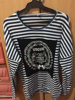 Striped Longsleeves Oversized Sweater