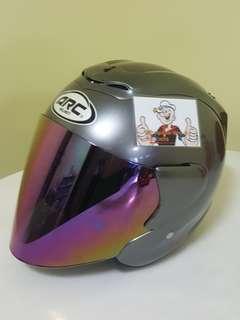0906*** ARC RITZ GREY v Rainbow Visor Helmet For Sale 😁😁Thanks To All My Buyer Support 🐇🐇 Yamaha, Honda, Suzuki