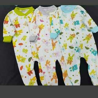 3in1 sleepsuit jumper panjang motif 'best friend ' by Velvet junior