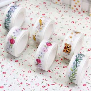 (PO) Roses, Cats and Vines Washi Tape