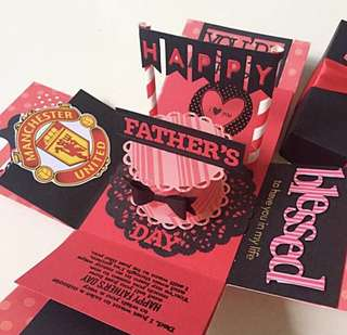 🚚 Happy father's day Explosion Box Card in Manchester United