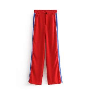 🔥2018 Loose Wide Leg Pants Stripe Trousers