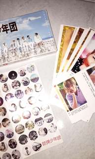 bts post cards with sticker