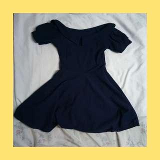Collared Off Shoulder Dress