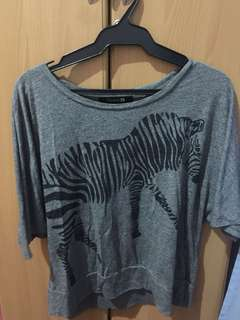 Gray Zebra Top