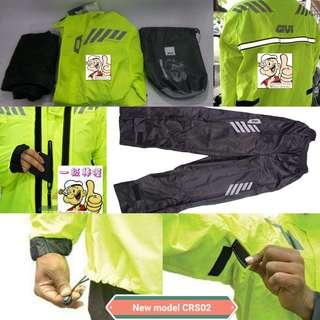 0906***GIVI Brand New Rain Coat for Sale **** ***RAINSUIT ***CRS02 New Model {NEONYELLOW} ***