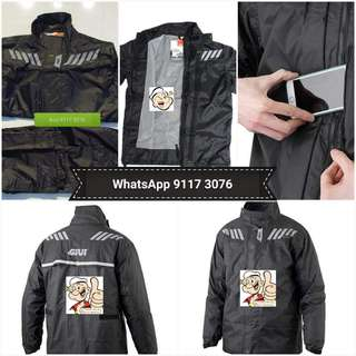 0906*** Givi Raincoat RRS04 Black & Red 🤣🤣Thanks To All My Buyer Support 👌👌
