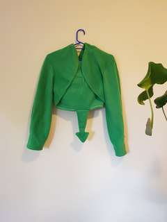 Green Dragon Custom Made Crop Jacket