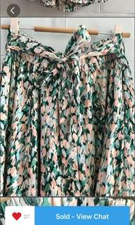 H&M floral maxi skirt