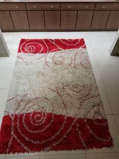 Imported  shaggy rug (270 x 180cm)