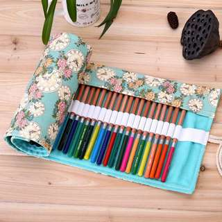 Roll Pouch for Pencils Colours Pens Make Up Brushes