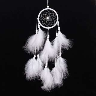 263- Full White Dreamcatcher
