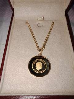 Necklace with ELIZABETH AND ANGEL Pendant