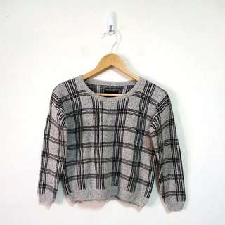 🚚 英倫格紋針織毛衣