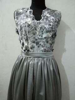 Grey flower gown