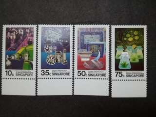 Singapore 1985 25th Years Of Industrial Progress Complete Set - 4v MNH Stamps