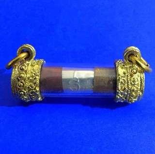 Lp Leua Samakasat (Got gold, silver & bronze) takrut