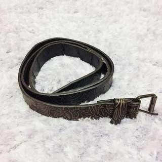 Brown Textured Belt