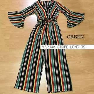 Maruka Stripe Long Jumpsuit