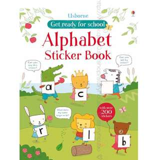 Usborne First Sticker Book - Alphabet ( All Paperback Books and Brand New )