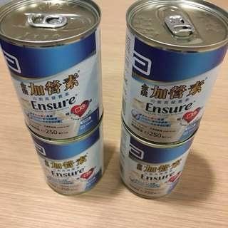 美國雅培金裝加營素 呍呢嗱味 方便即飲裝 奶 Ensure 250ml Instant Milk Ready to use Ready to drink
