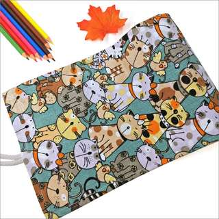 Roll Pouch Pencil Case for pens colours pencils make up brushes