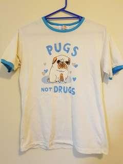 Cute Printed Ringer T Shirt