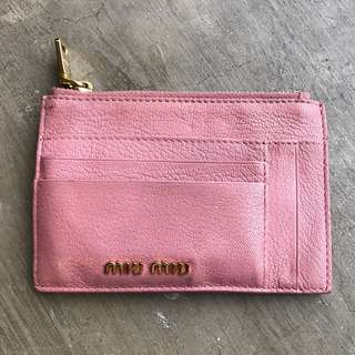 Miu Miu Madras All in One Money, Coin, and Card Holder