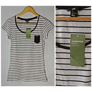 H&M tees with pocket