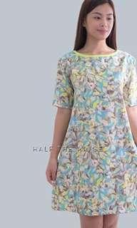 HTP Blue Yellow Printed Dress